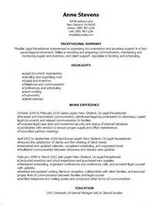 resume template receptionist professional receptionist resume templates to