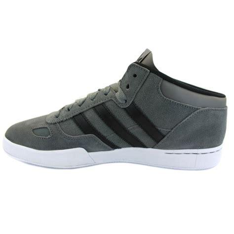 adidas ciero mid st g48951 mens laced suede trainers grey