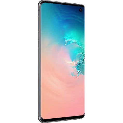 samsung galaxy s10 sm g973u 128gb smartphone sm g973uzwaxaa b h