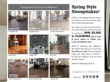 Who Won The Lumber Liquidators Sweepstakes - lumber liquidators spring style sweepstakes
