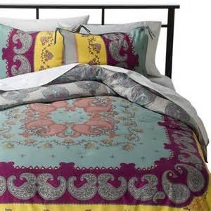 lola reversible comforter set multicolor boho target