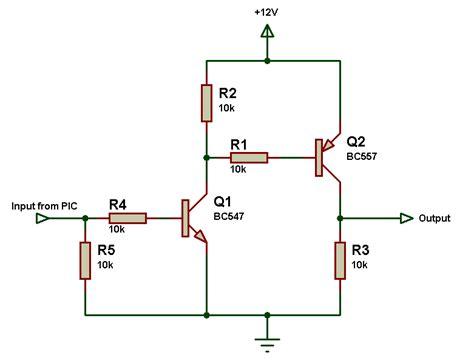 resistor 12v para 5v pic16f877a lifying output from 5v to 12v problem quadcopter