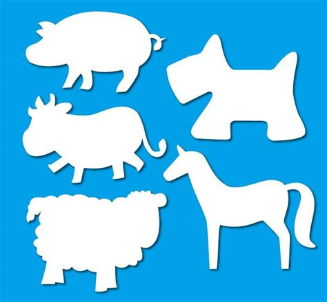 Animals Out Of Paper - paper cut out shapes animals 15 pc pkt paper shapes