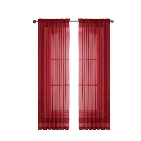 wide curtain rod window elements diamond sheer 56 in w x 63 in l rod
