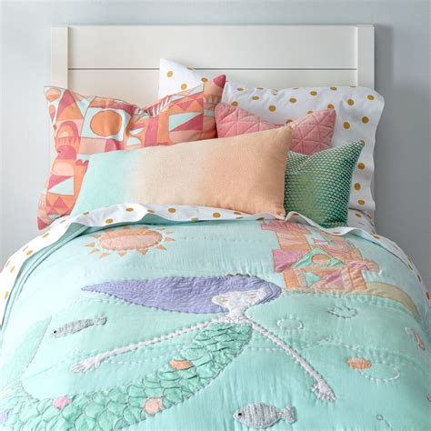 mermaid toddler bedding set mermaid bedding the land of nod