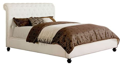 white queen platform bed bennett white queen platform bed from furniture of america