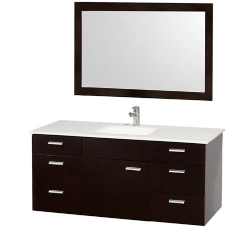 52 inch double sink bathroom vanity wyndham collection encore 52 modern single sink bathroom