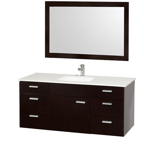 Wyndham Collection Encore 52? Modern Single Sink Bathroom Vanity WCS400052 All Bathroom Vanities