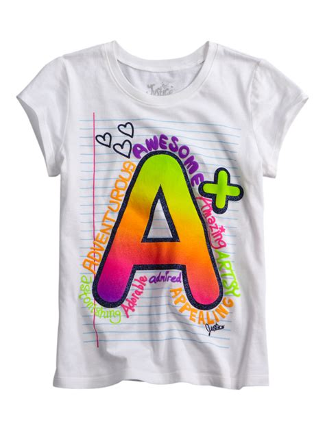 8 Graphic Tees For For Back To School by A Notebook Graphic From Justice Autumns Back