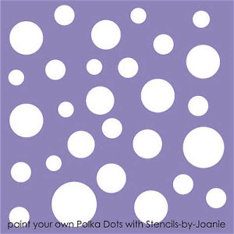 stencil polka dot wall art craft pattern template cottage