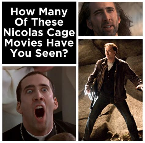 what films has nicolas cage been in how many of these nicolas cage movies have you seen