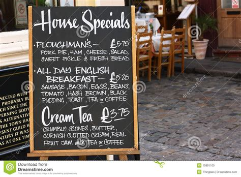 Restaurant Coffee Tables - house specials menu board stock photo image of lunch 15891100
