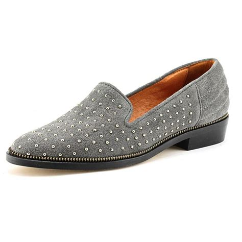 grey suede loafers womens the kooples afch838 suede gray loafer comfort