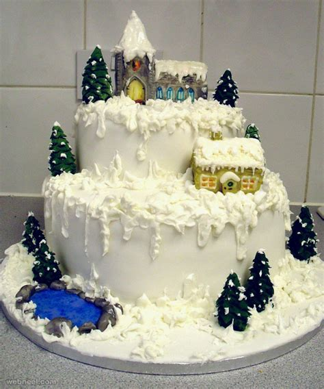 Decoration Of Cake At Home by 25 Creative Christmas Cake Decoration Ideas And Design