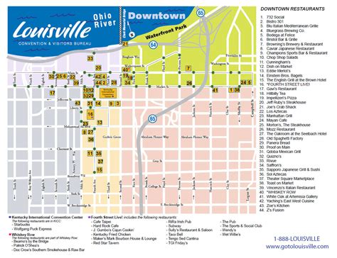 kentucky attractions map 22 original map of downtown louisville afputra