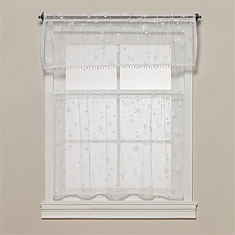 bed bath and beyond lace curtains heritage lace 174 wind chill kitchen window tier with trim