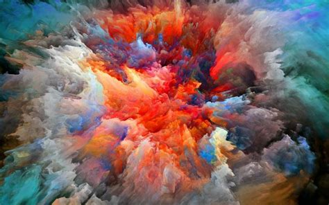 Wallpaper Explosion of color paint   My HD Wallpapers