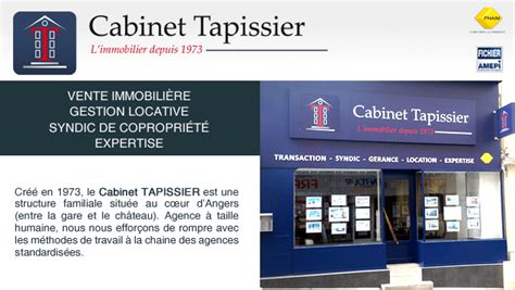 Cabinet Tapissier Angers cabinet tapissier agence immobili 232 re angers 49000