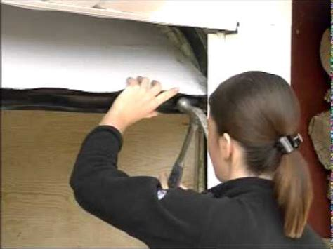how to seal the bottom of a garage how to install weatherstripping garage door bottom