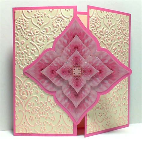 folded card template poppy hill designs kaleidoscope your world gate fold card