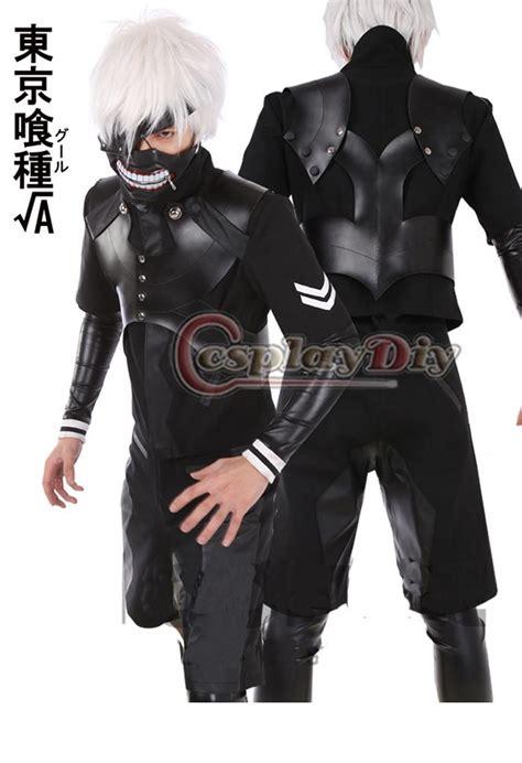 Jaket Kaneki Black Grey Jaket Tokyo Ghoul Mask Kaneki custom made tokyo ghoul the second season kaneki ken battle suit costume anime