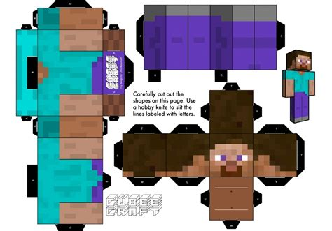 Mine Craft Paper - 11 powerful paper craft minecraft steve build your own