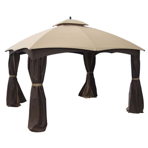 gazebo lowes allen roth 12 ft x 10 ft standard rectangular gazebo