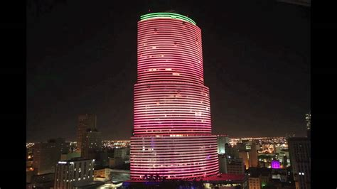 Miami Tower Color Changing Led Lighting Youtube Led Lights Miami