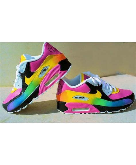 Nike Air Grey Pink Sol Rainbow air max 90 rainbow black pink yellow trainer in the to choose your pink 90 style