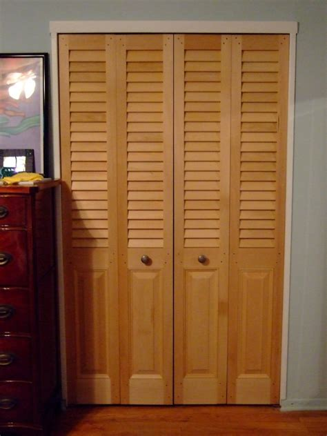 Louver Doors For Closets Panel Louvered Combination Bifold Closet Doors