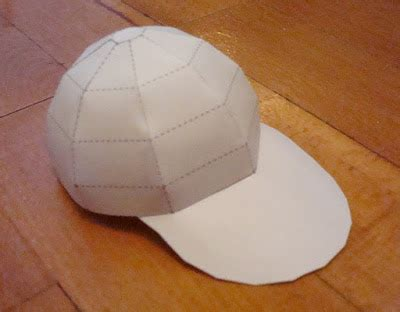 How To Make A Paper Baseball Hat - paperized crafts