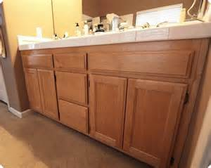 how to paint a bathroom cabinet painted oak vanities bungalow home staging redesign