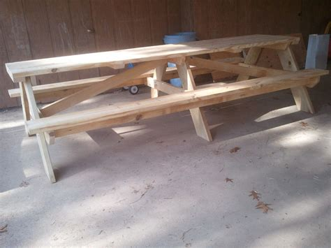 diy picnic bench 20 free picnic table plans enjoy outdoor meals with