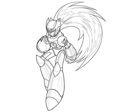 zero mega man coloring page free coloring pages of megaman zx