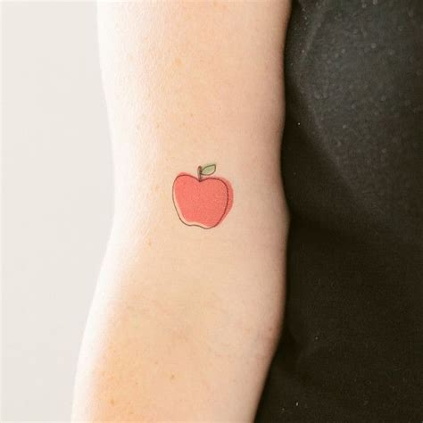 apple tattoos crisp apple pairodicetattoos