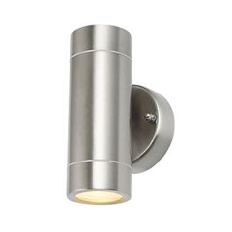 Lap Bronx Outdoor Up Down Wall Light Stainless Steel Screwfix Outdoor Lighting
