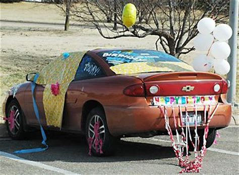 How To Decorate Your Car by Decorate Car For Birthday Sweet 16