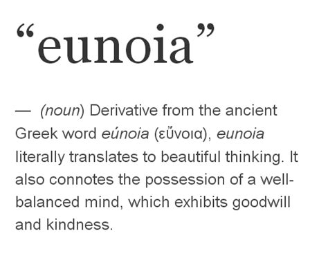 greek word tattoos eunoia is the shortest word containing all five