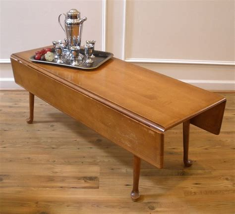 Tables vintage american maple country style drop leaf coffee table coffee table design coffee