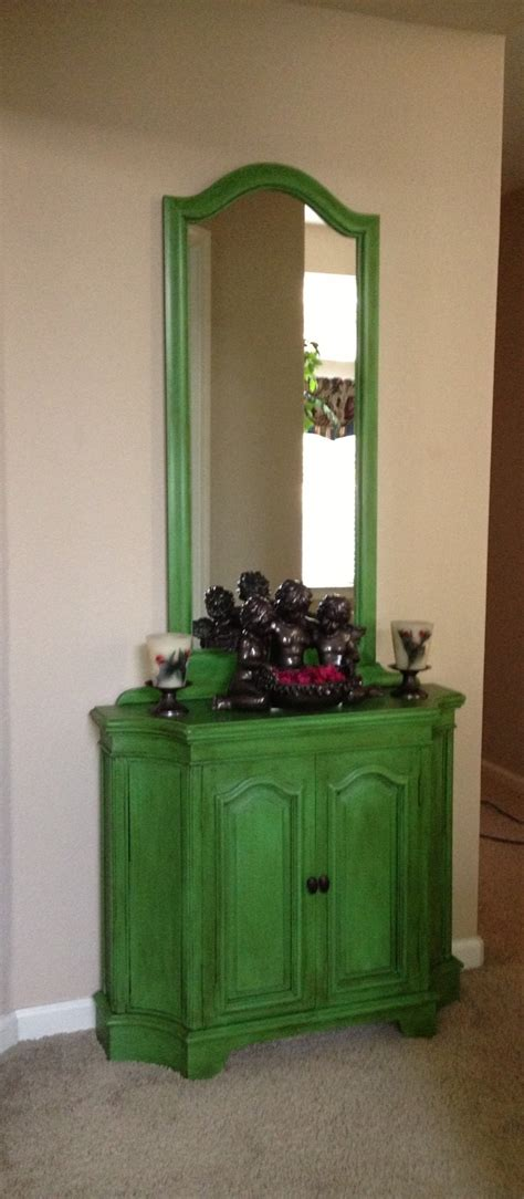 Green Furniture by Sloan Antibes Green With Clear And Wax