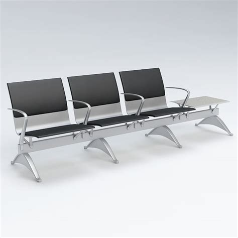 waiting area chairs 3d model 3d airport chair