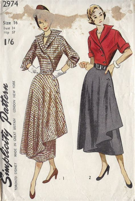 17 best ideas about vintage sewing patterns on
