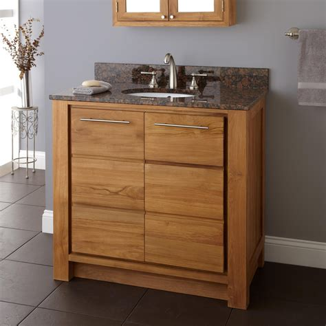teak vanity bathroom 36 quot venica teak vanity for undermount sink natural teak