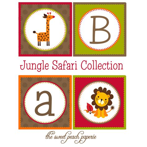 free printable jungle birthday banner jungle safari baby shower or birthday party collection