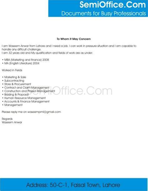 Do I Need Work Experience For Mba by Cover Letter For Mba Marketing With Experience