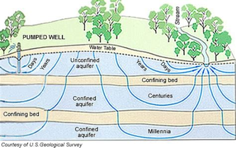 where is the water table located 10 facts about aquifers fact file