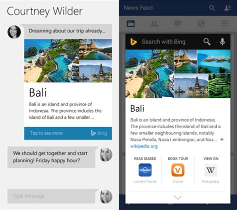 google snapshots bing beats google quot now on tap quot to android with new bing