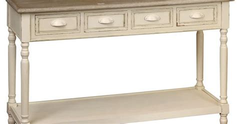 Country Living Cottage Country Cream Hall Living Console Side Table