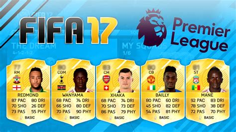 17 fifa player ratings fifa 17 player ratings predictions xhaka mane redmond
