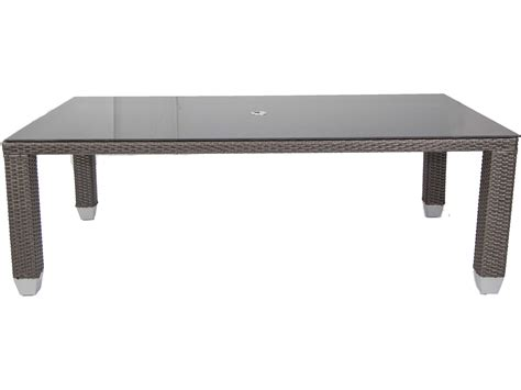 decor market palisade rectangle dining table dining patio heaven signature palisades wicker 84 x 42
